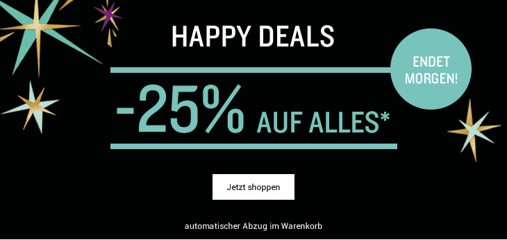 happy deals -25% auf alles*
